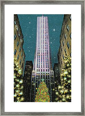 A Rocking Christmas Framed Print by Diana Angstadt