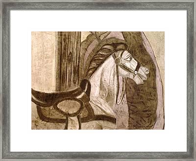 A Rocking Horse Framed Print