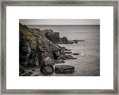 A Rocky End Framed Print