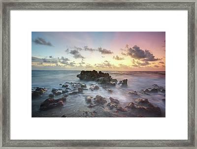 A Rocky Sunrise. Framed Print