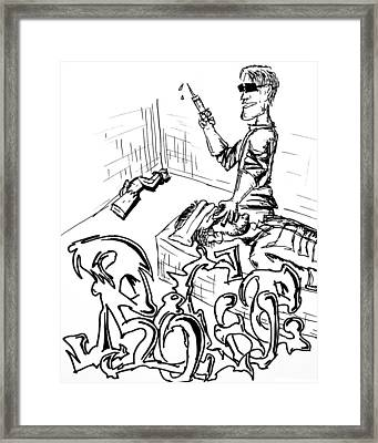 A Rogue Death Framed Print by Jera Sky