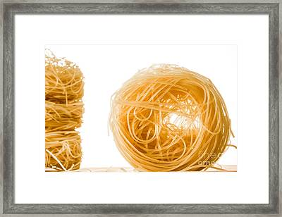 A Roll Of Angels Hair Spaghetti. Framed Print by Jacques Jacobsz