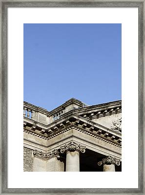 A Roman Building Framed Print by Tom Gowanlock