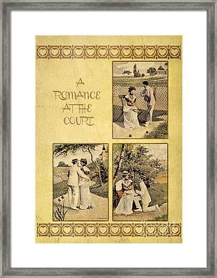 A Romance At The Tennis Court Framed Print by Heidi De Leeuw