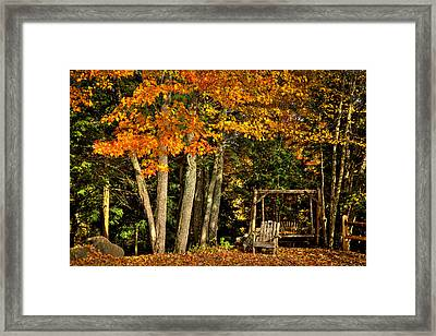 A Romantic Autumn Spot In Inlet Framed Print by David Patterson