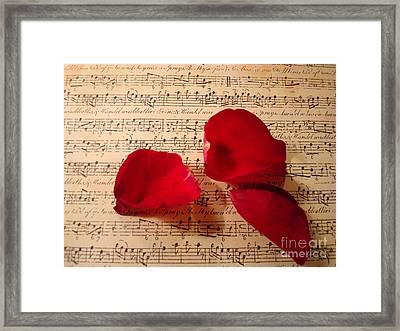 A Romantic Note Framed Print