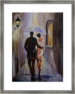 A Romantic Stroll Framed Print