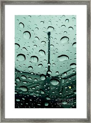 A Roof With A View Framed Print by Dawn Gilbert Rikard