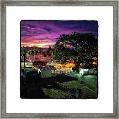 A Room With A View. This Was A Few Framed Print by Mr Photojimsf