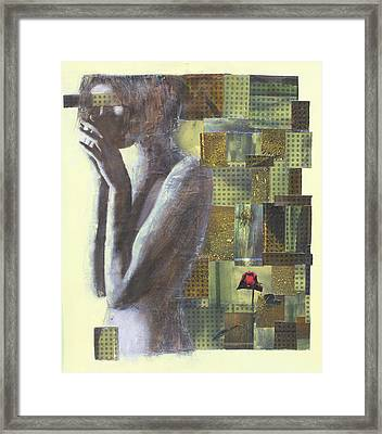 Framed Print featuring the painting A Rose By Any Another Name by Geraldine Gracia