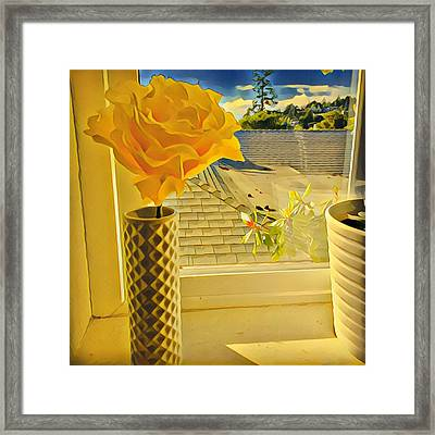 A Rose Is A Rose Electric Framed Print