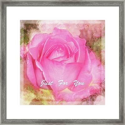 A Rose Pastel Soft Sorbet 5 Framed Print by Mona Stut
