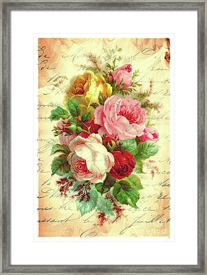 A Rose Speaks Of Love Framed Print by Tina LeCour