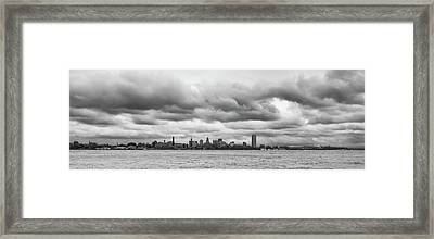 A Rotten Day In Buffalo  9230 Framed Print by Guy Whiteley