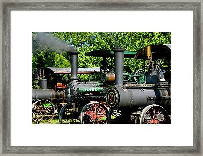 A Row Of Steam Framed Print by Paul W Faust - Impressions of Light