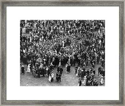 A Royal Party Framed Print by Underwood Archives