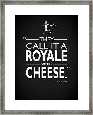A Royale With Cheese Framed Print by Mark Rogan
