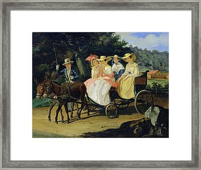 A Run Framed Print by Aleksandr Pavlovich Bryullov