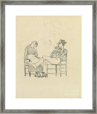 A Rural Couple Framed Print by MotionAge Designs