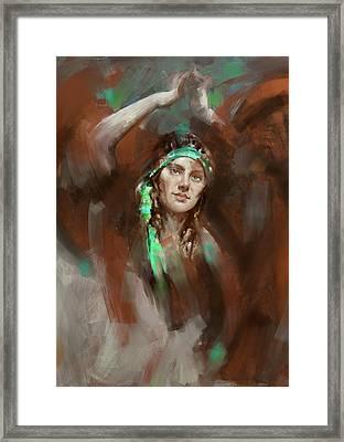 a russian dancing girl 180 IV Framed Print by Mawra Tahreem