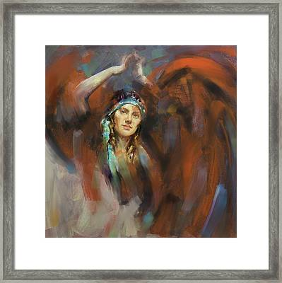 a russian dancing girl 180 II Framed Print by Mawra Tahreem