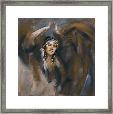 a russian dancing girl III Framed Print by Mawra Tahreem