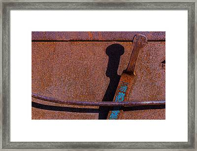 Framed Print featuring the photograph A Rusted Development II by Paul Wear