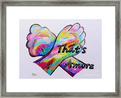 A S L ... That's Amore Framed Print by Eloise Schneider