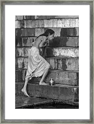A Sacred Place Bw  Framed Print by Steve Harrington