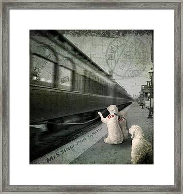 A Sad Goodbye Framed Print