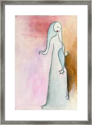 A Sad Star Framed Print by Ricky Sencion