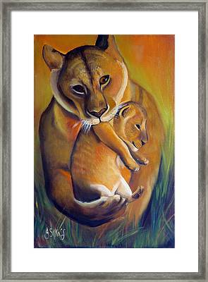 A Safer Place Framed Print by Janet Silkoff