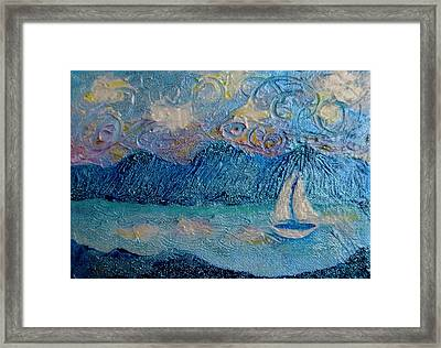 A Sailboat For The Mind #2 Framed Print