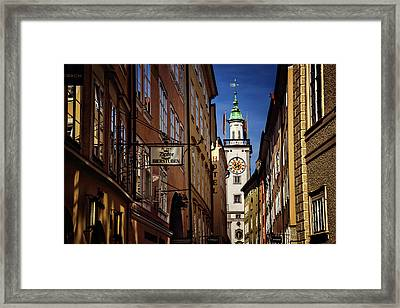 A Salzburg Street  Framed Print