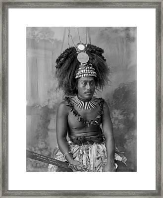 A Samoan High Chief Framed Print
