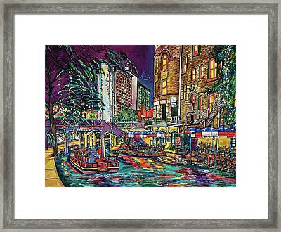 Framed Print featuring the painting A San Antonio Christmas by Patti Schermerhorn