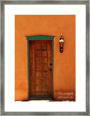 A Santa Fe Door Framed Print by Christiane Schulze Art And Photography