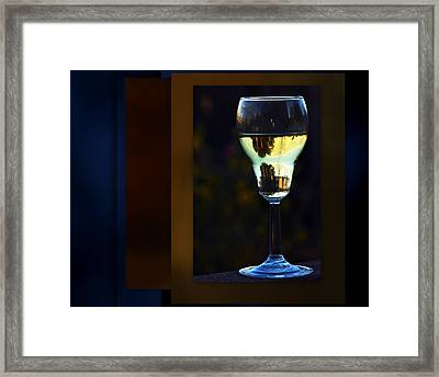 A Sataurne Sunset Framed Print by Irma BACKELANT GALLERIES