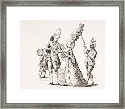 A Satire On Women S Extreme Hairdos In Framed Print