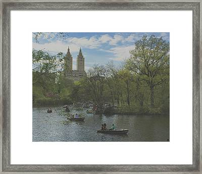 A Saturday In May In Central Park 3 Framed Print by Muriel Levison Goodwin