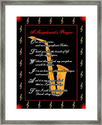 A Saxophonists Prayer_1 Framed Print by Joe Greenidge
