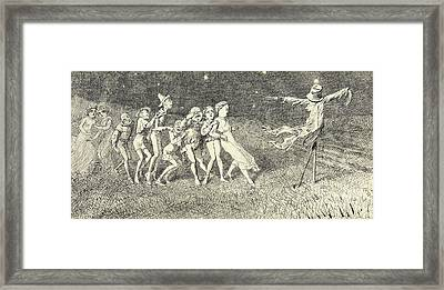 A Scarecrow Framed Print by Charles Altamont Doyle