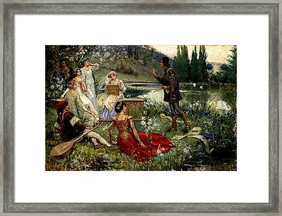 A Scene From The Decameron Framed Print