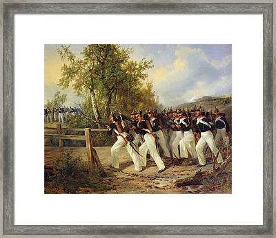 A Scene From The Soldier's Life Framed Print by Carl Schulz