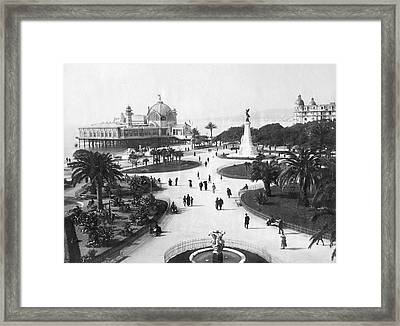 A Scene In Nice, France Framed Print by Underwood Archives