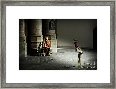 A Scene In Oude Kerk Amsterdam Framed Print by RicardMN Photography