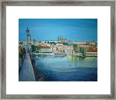 A Scene In Prague 3 Framed Print