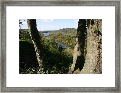 A Scenic View Of The Potomac River Framed Print by Stephen St. John