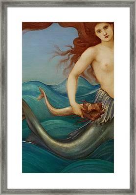A Sea Nymph Framed Print by Sir Edward Burne-Jones