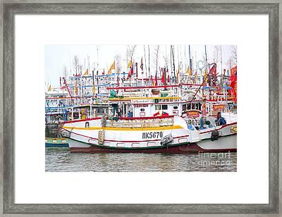 A Sea Of Fishing Boats Framed Print